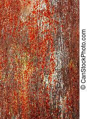 gemalt, korrosion, metall, hintergrund