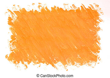 gemalt, orange hintergrund