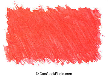 gemalt, roter hintergrund