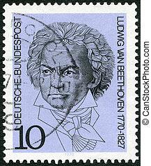 GEMANY - 1970: shows Ludwig van Beethoven (1770-1827), composer