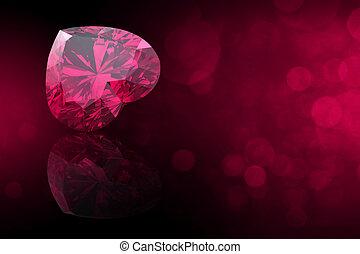 gemas, corazón, gemstone., joyas, forma, colecciones, black...