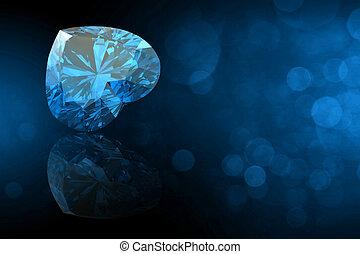 gemas, corazón, joyas, forma, colecciones, negro, gemstone.