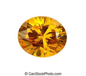 gemas, fondo blanco, amarillo