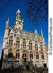 gemeentehuis, veere, nederland, zeeland
