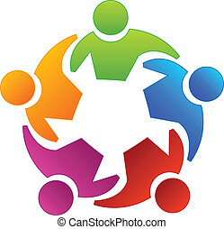 gemeinschaftsarbeit, andersartigkeit, leute, logo