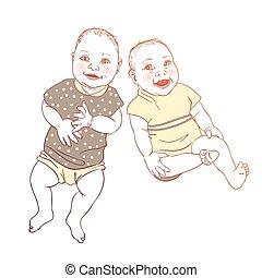gemelli, bambini