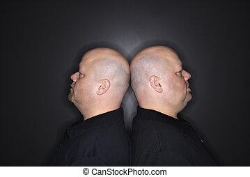gemello, calvo, men.