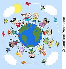 gemengd etnisch, kinderen
