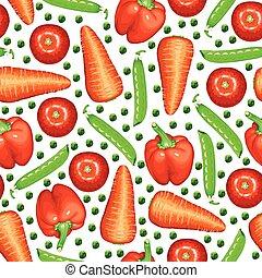 gemengd, model, groentes, seamless