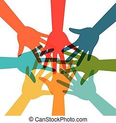 gemenskap, social