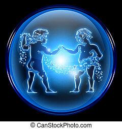Gemini zodiac button icon