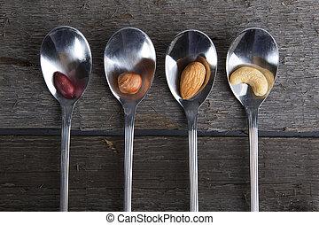 gemischter, nüsse