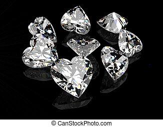 gemme, cuore, gioielleria, forma, collezioni, gemstone.
