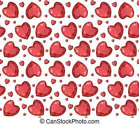 gemme, cuore, wallpaper., illustration., gioielleria,...
