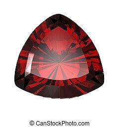 gemme, forma, rubino, gioielleria, trillion.