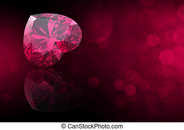 gemmes, coeur, gemstone., bijouterie, forme, collections,...