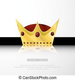 gemmes, couronne, or, rouges