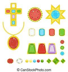 gems and diamonds set