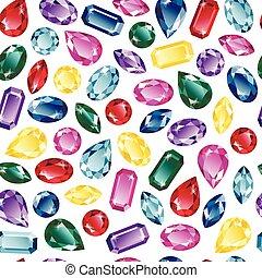 Gems background seamless pattern