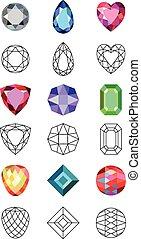 Gems cuts set