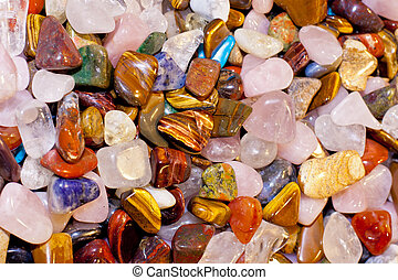 gems stones many different colored spot