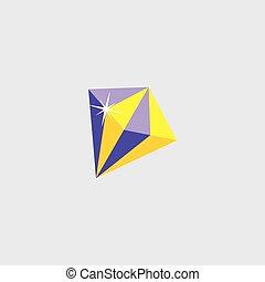 gemstone cartoon icon button