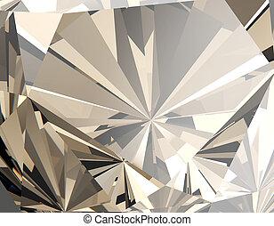 gemstone., coñac, joyas, plano de fondo, facet.