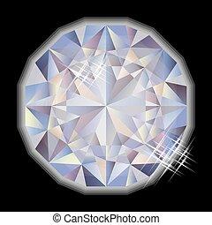 gemstone, diamante, vettore, moda