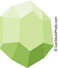 gemstone, diamond colorful stone isolated on white background