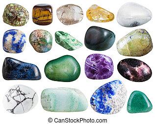 gemstone howlite, rhinestone, agate, amethyst, etc - set of...