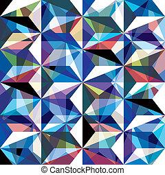 Gemstone texture seamless pattern, vector background.