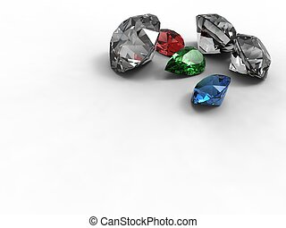 Gemstones - 01 - This is diamonds emerald and ruby different...