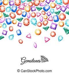 Gemstones Background Illustration