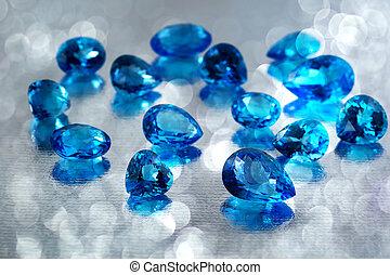 gemstones., grupo, topacio