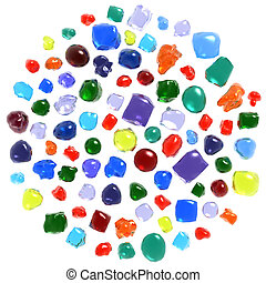 Gemstones set isolated on white