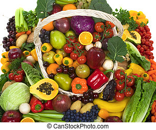 gemuese, früchte
