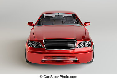 genérico, brandless, coche rojo