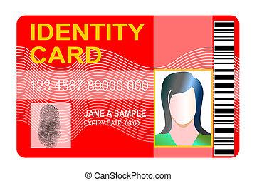 genérico, documentode identidad, thumbprint