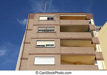 genérico, edificio apartamento