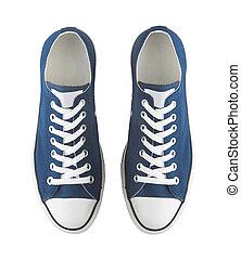 genérico, par, blanco, zapatillas, aislado