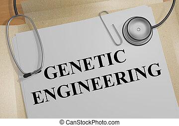 genético, conceito, engenharia