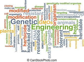 genético, conceito, engenharia, fundo