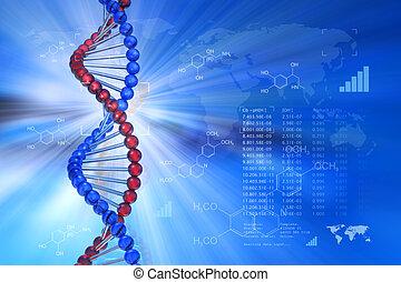 genético, concepto, ingeniería, científico