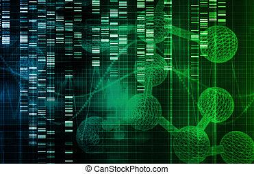 genético, plano de fondo