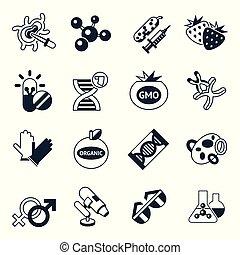 genético, vetorial, tecnologia, engenharia, digital