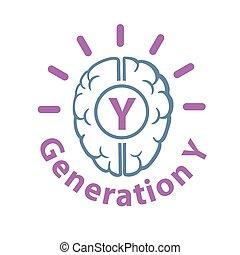 Gen-Y web icon - Genaration Y web icon vector illustration.