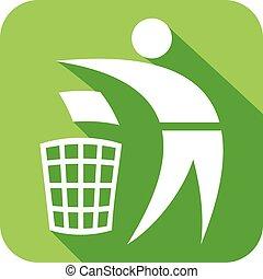 genbrug, lejlighed, ikon