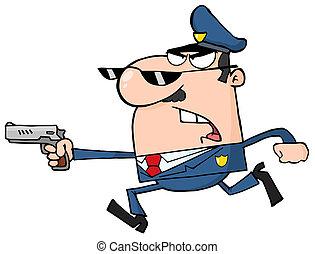 Courant gendarme police quelqu 39 un apr s courant - Gendarme dessin ...