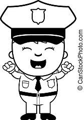 gendarme, excité