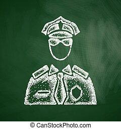 gendarme, icône